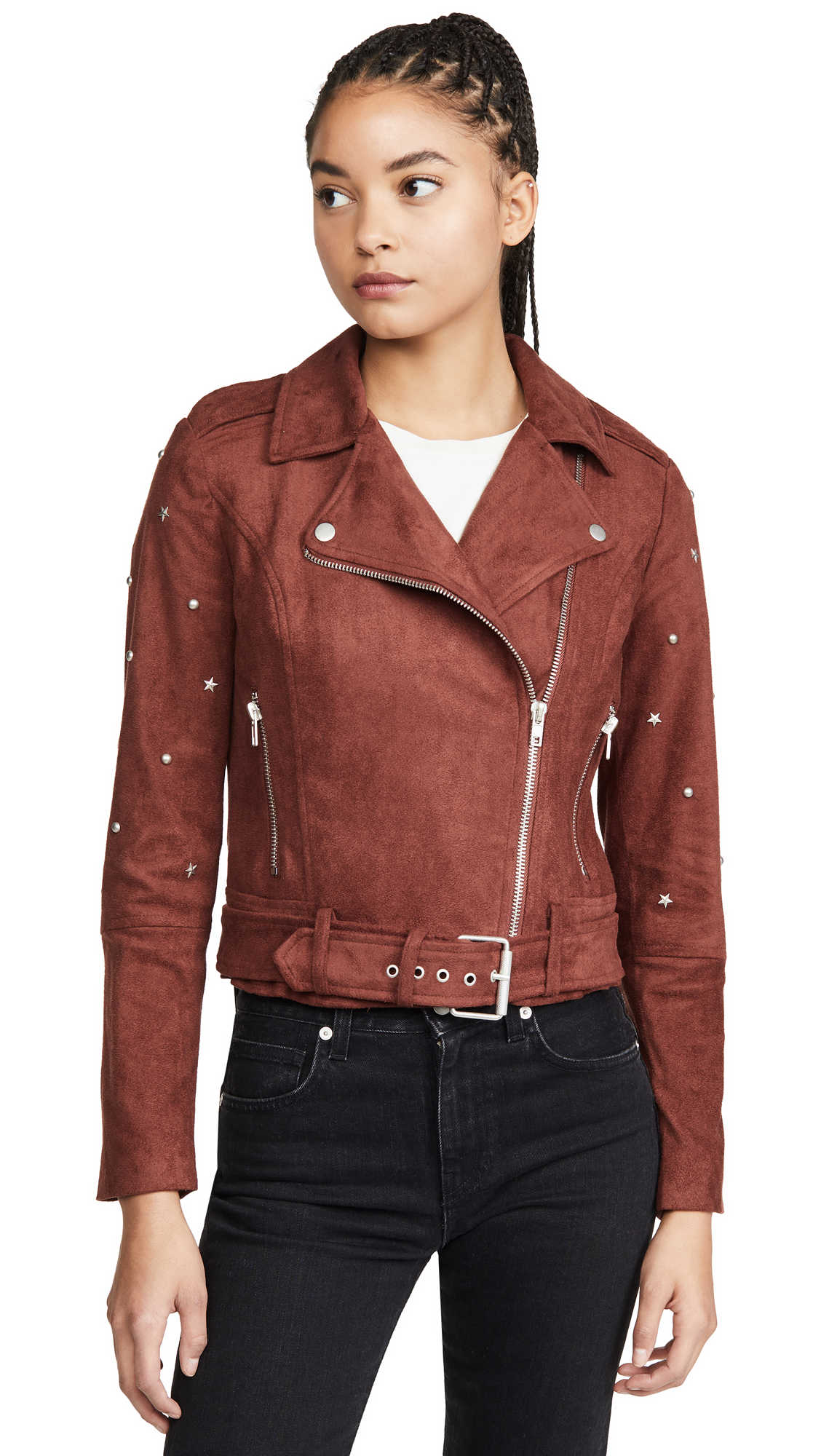Buy BB Dakota online - photo of BB Dakota Love Walks In Faux Suede Jacket