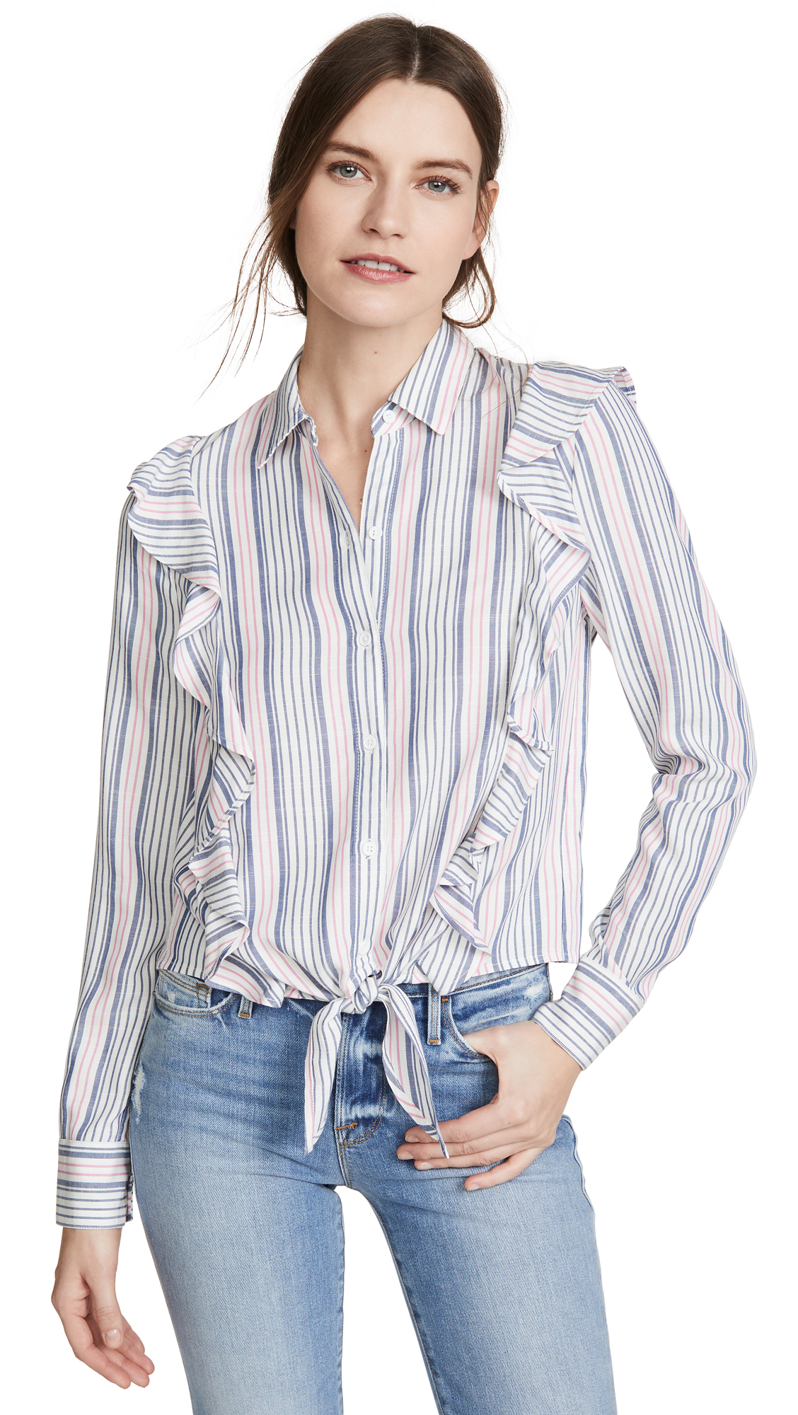 BB Dakota Jack By BB Dakota Ruffle Rider Button Down - 40% Off Sale