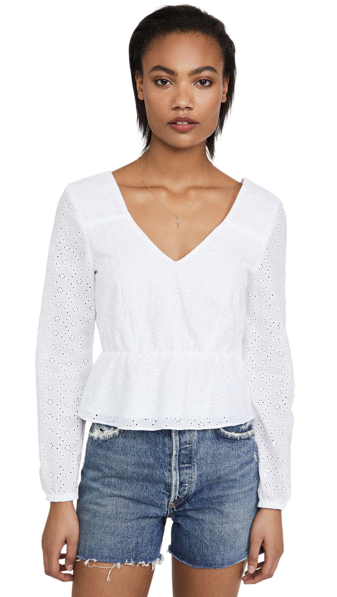BB Dakota Jack By BB Dakota All Eyelets On You Top - 30% Off Sale