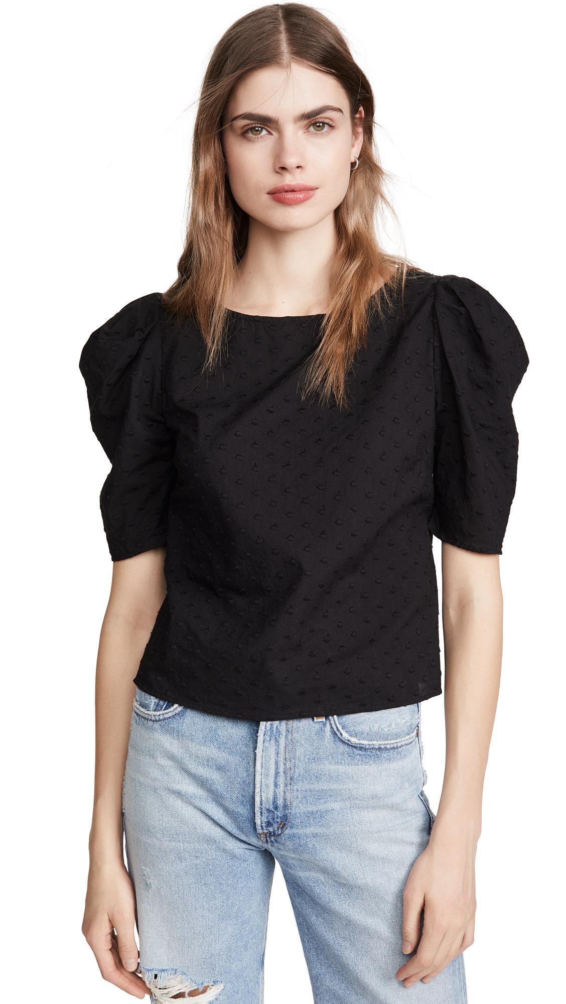 BB Dakota Swiss Dot Puff Sleeve Top - 30% Off Sale