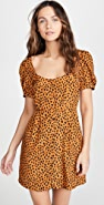 BB Dakota Leopard Print Puff Sleeve Dress
