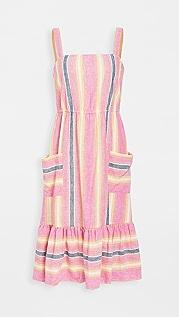 BB Dakota 粉色亚麻条纹连衣裙