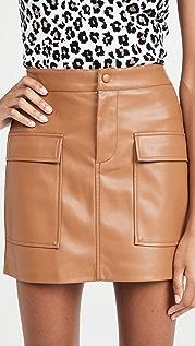 BB Dakota Vegan Leather Too Late Miniskirt