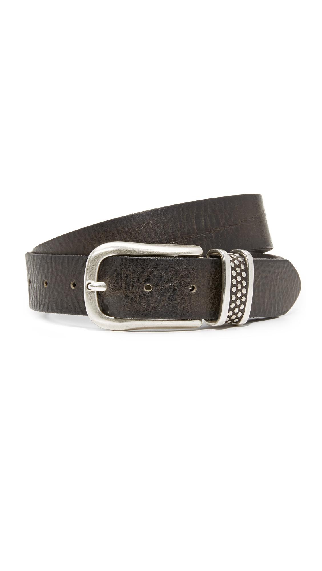 B. Belt Microstud Belt - Charcoal/Silver