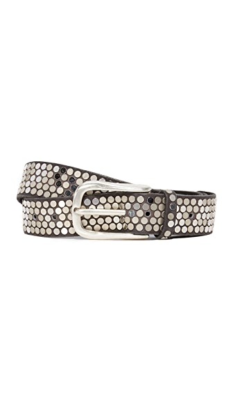 B. Belt Flat Stud Belt In Charcoal