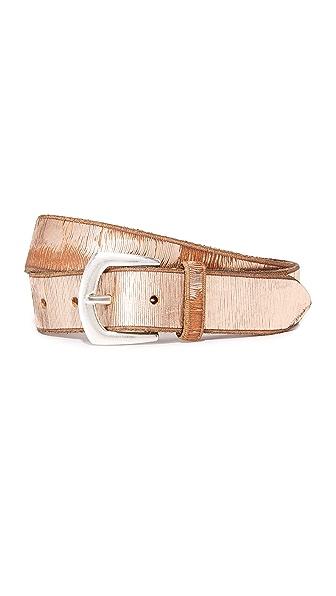 B. Belt Metallic Twill Print Belt - Light Copper