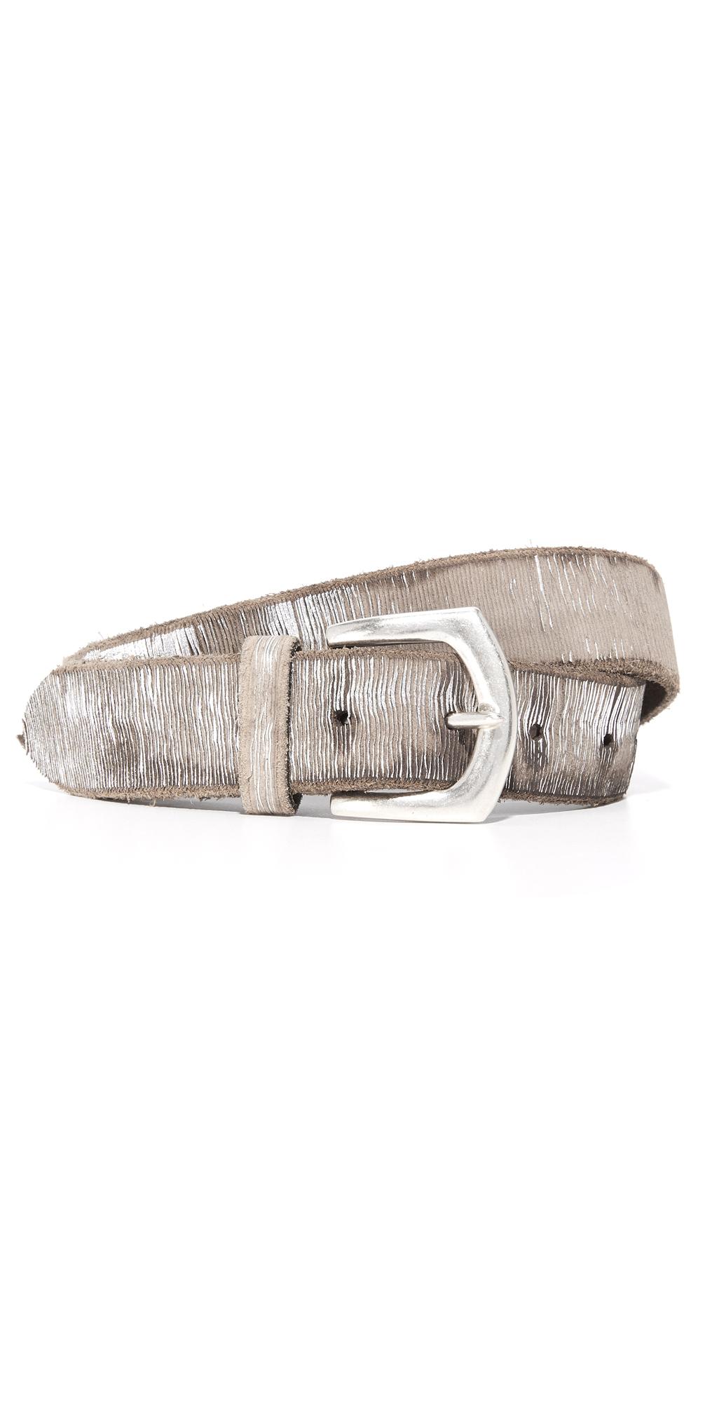 Metallic Twill Print Belt B. Belt