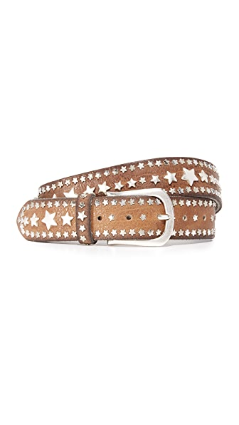 B. Belt Multi Star Stud Belt In Taupe