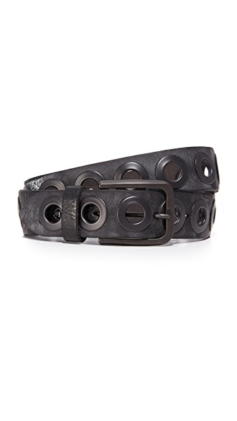 B. BELT Gunmetal Ring Belt in Black