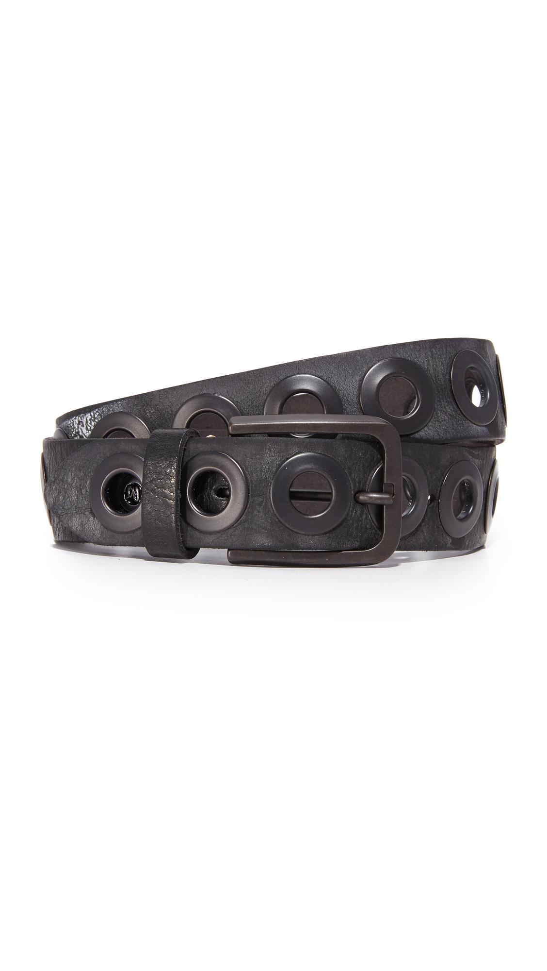 B. Belt Gunmetal Ring Belt - Black