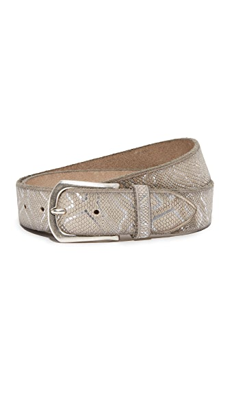 B. Belt Embossed Metallic Belt - Creme
