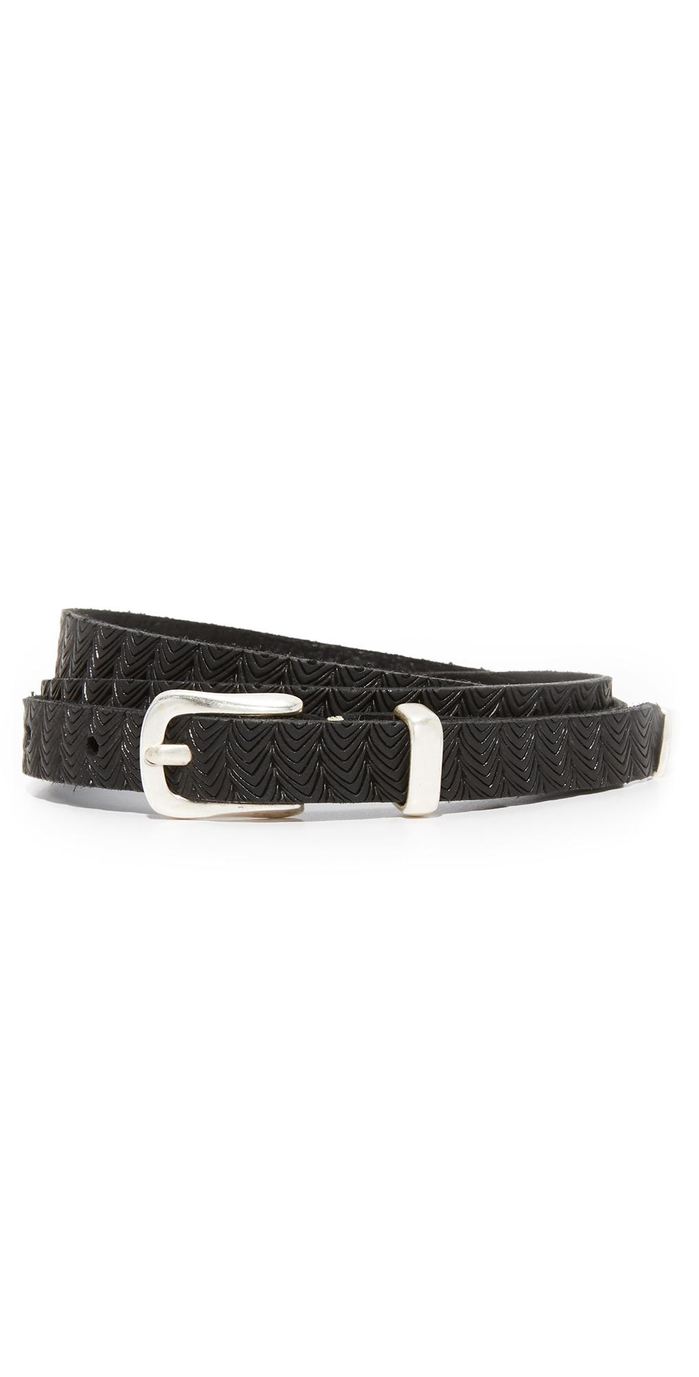 Skinny Embossed Belt B. Belt
