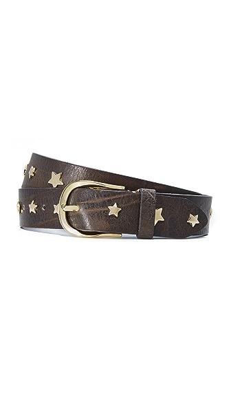 B. Belt Star Studded Belt - Charcoal