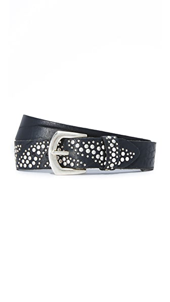 B. Belt Stars & Pyramid Studded Belt In Black