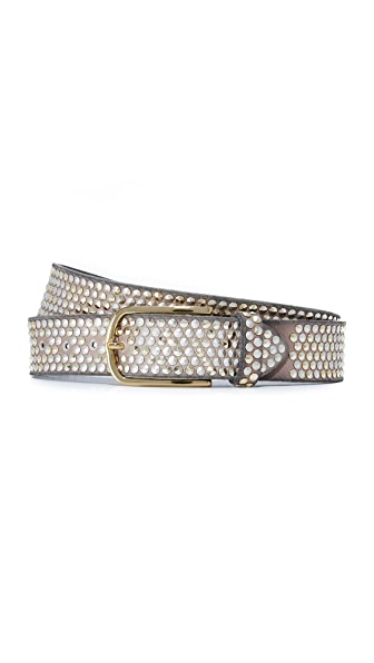 B. Belt Pyramid Studded Belt - Taupe