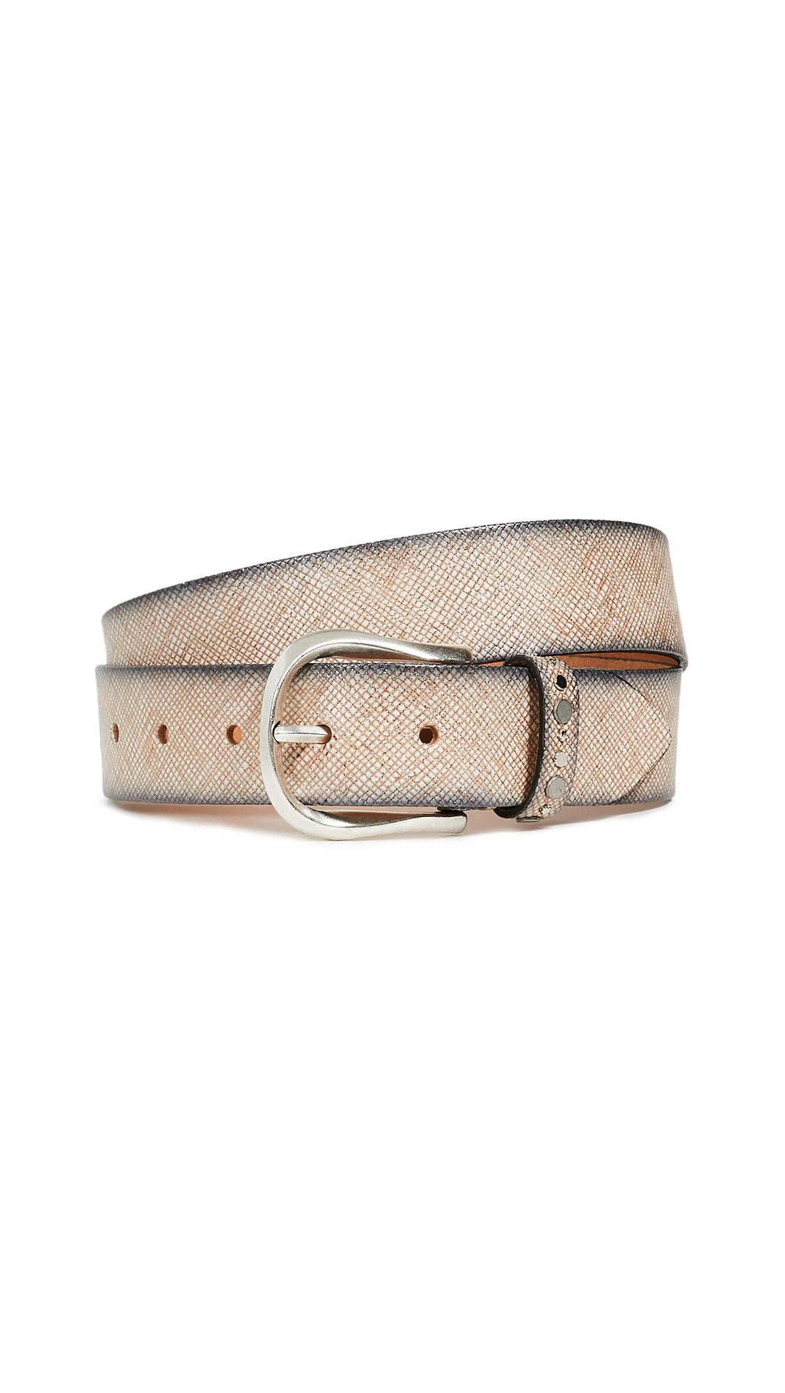 B. BELT Embossed Belt in Creme Shimmer
