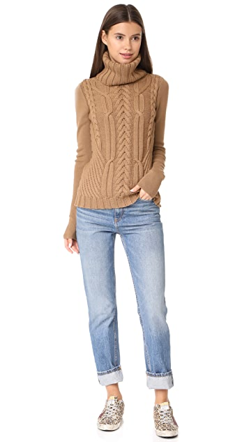 Barbara Bui Cable Knit Turtleneck
