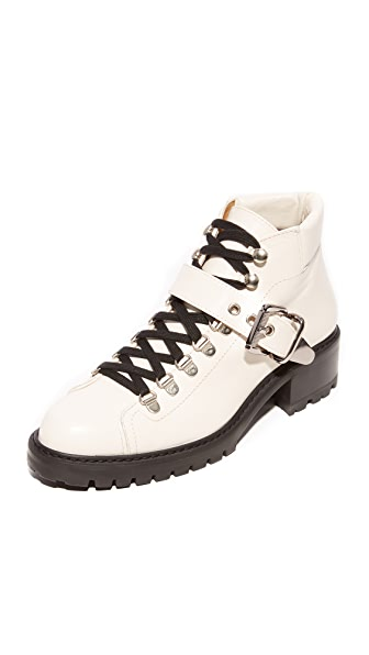 Barbara Bui Ankle Hiker Booties In White