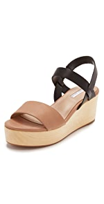 Slingback Wood Day Wedges                blank canvas