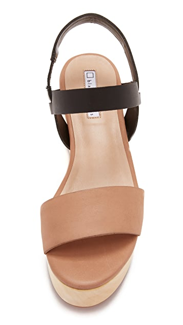 blank canvas Slingback Wood Day Wedges