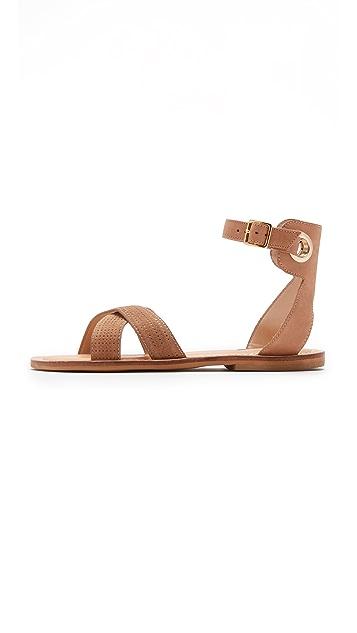 blank canvas Cross Strap Flat Sandals