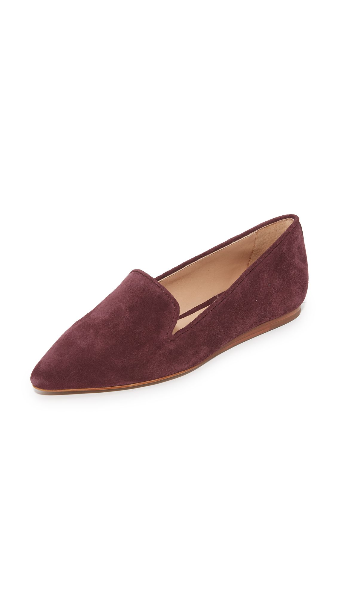blank canvas suede pointed toe flats syrah shoes