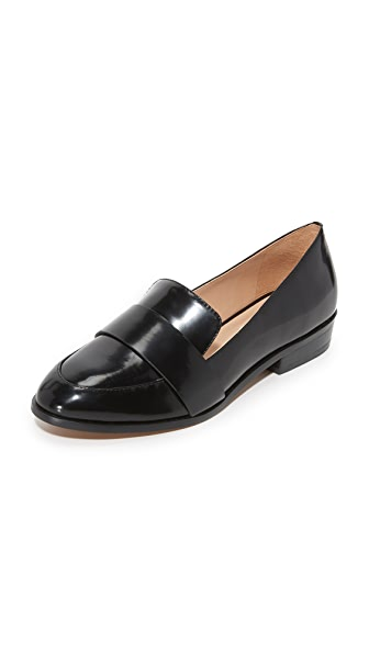 blank canvas Banded Loafers - Black