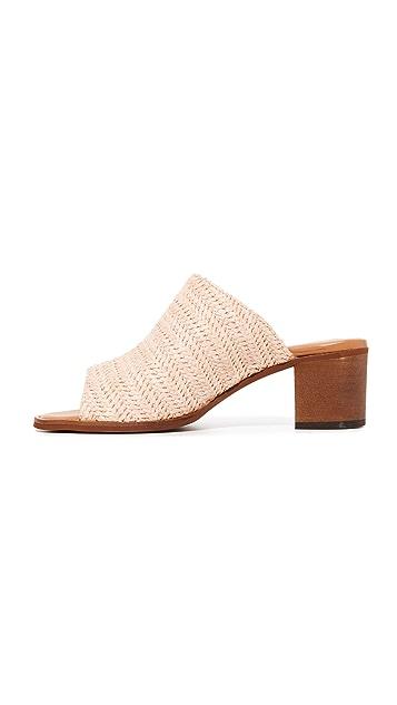 blank canvas Raffia City Mule Sandals