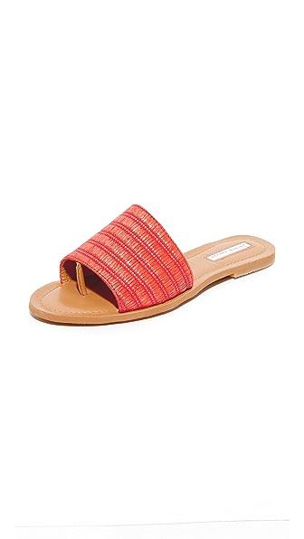 blank canvas Raffia Slide Sandals