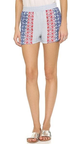 Bcbgmaxazria Printed Shorts - Cobalt Blue Multi at Shopbop