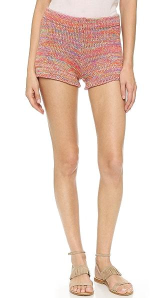 Bcbgmaxazria Knit Shorts - Marbled Orange Glow at Shopbop