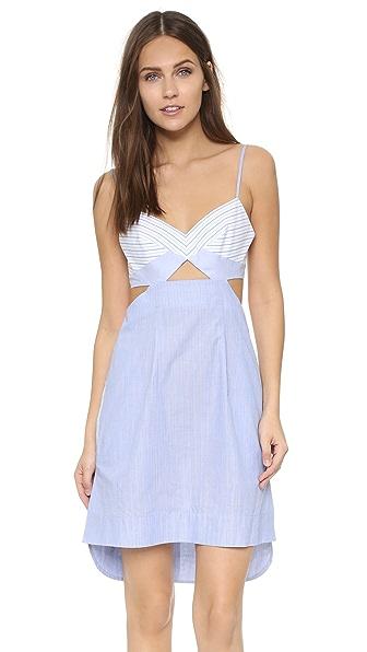 Bcbgmaxazria Cutout Dress - Celestial Blue/White at Shopbop