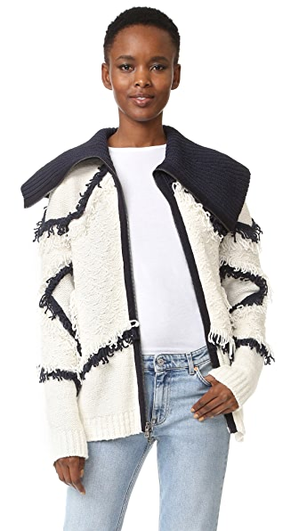 BCBGMAXAZRIA Star Fringe Knit Jacket at Shopbop