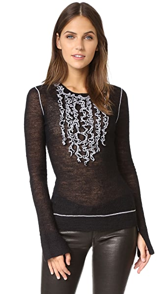 Bcbgmaxazria Ruffle Sweater - Black at Shopbop