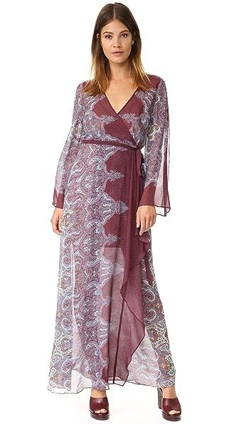 Bcbgmaxazria Larina Maxi Dress - Burgundy Combo at Shopbop