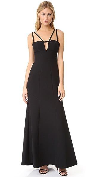 Bcbgmaxazria Cutout Gown - Black at Shopbop