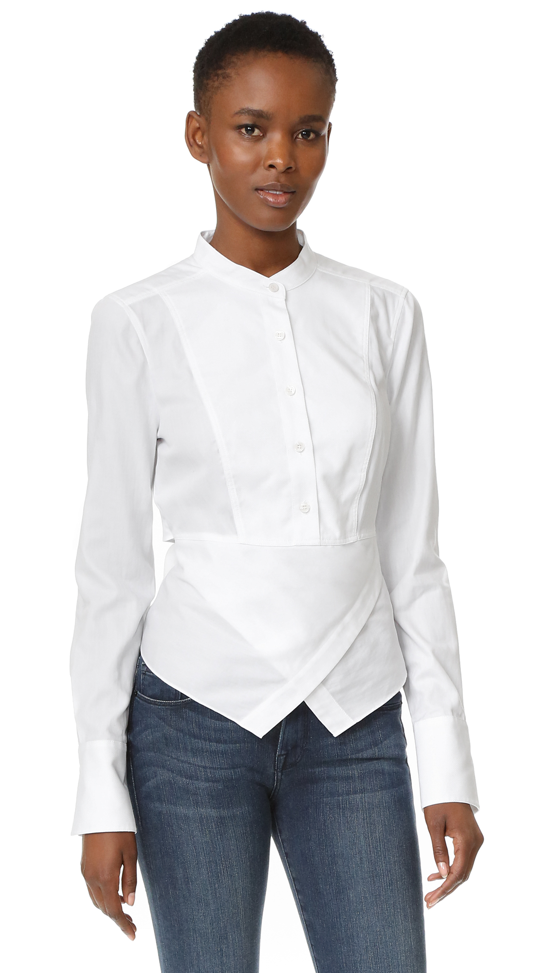 Bcbgmaxazria Kathryn Wrap Blouse - White at Shopbop