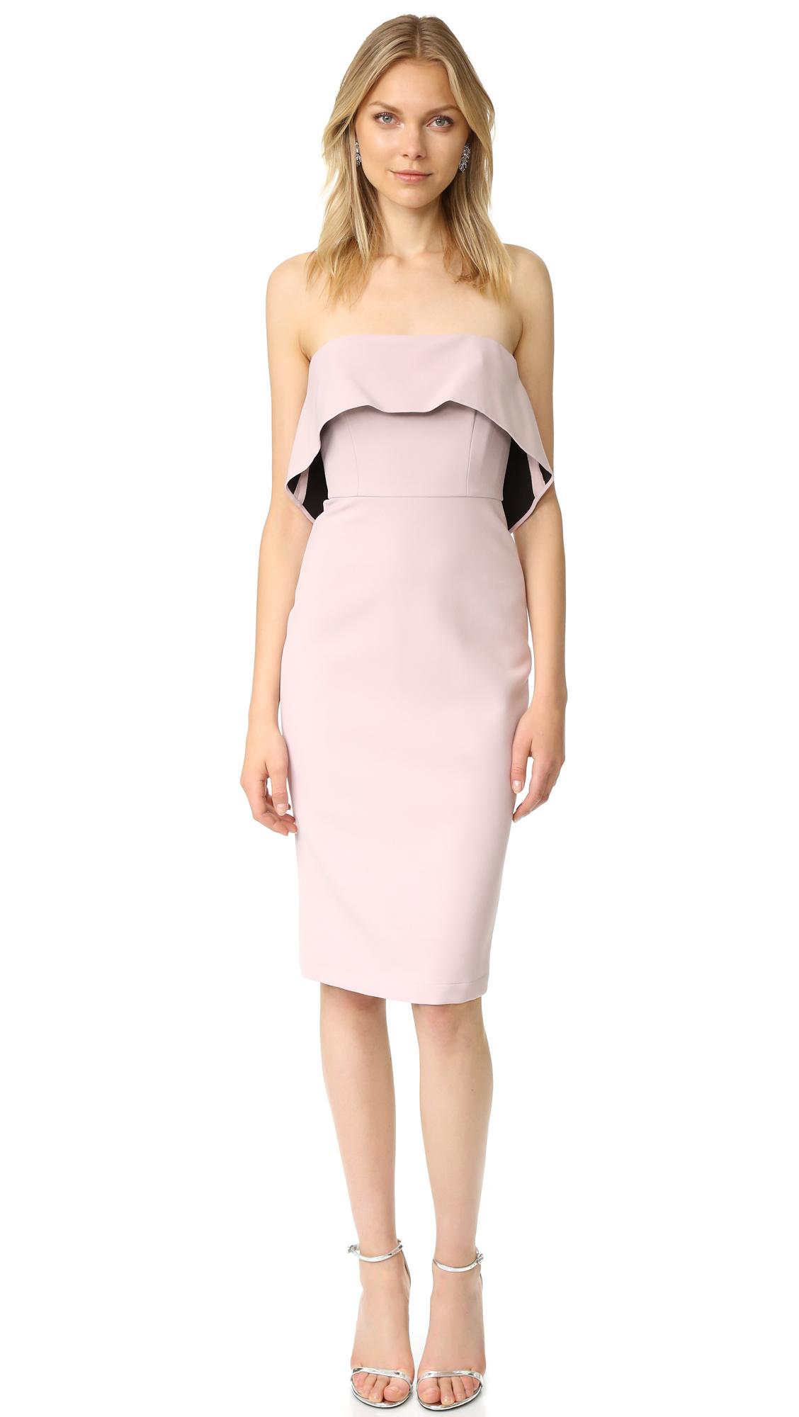 Bcbgmaxazria Strapless Ruffle Dress - Tea Rose at Shopbop