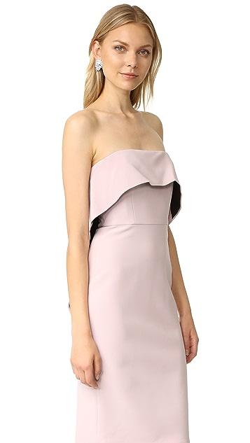 BCBGMAXAZRIA Strapless Ruffle Dress