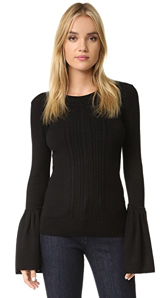 Bcbgmaxazria Bell Sleeve Sweater - Black at Shopbop