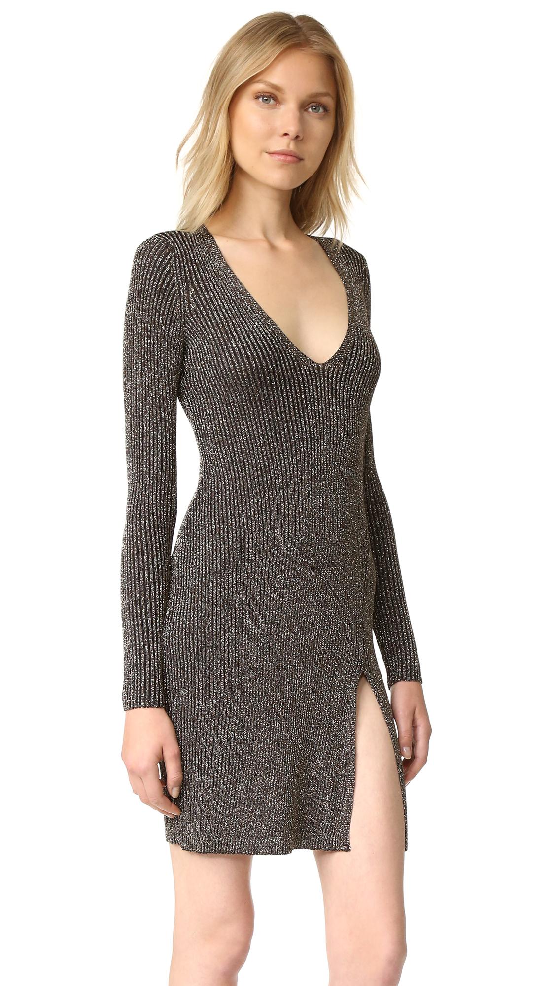 a8d74ccf85 BCBGMAXAZRIA Deep V Lurex Mini Dress | SHOPBOP