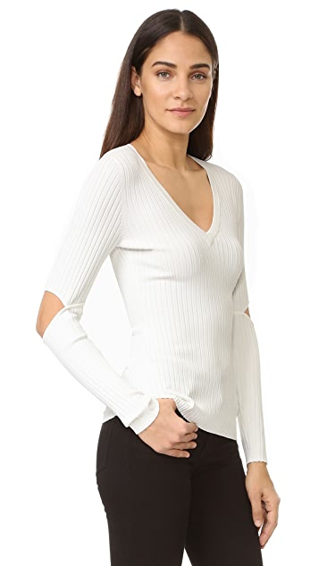 BCBGMAXAZRIA Dario V Neck Sweater