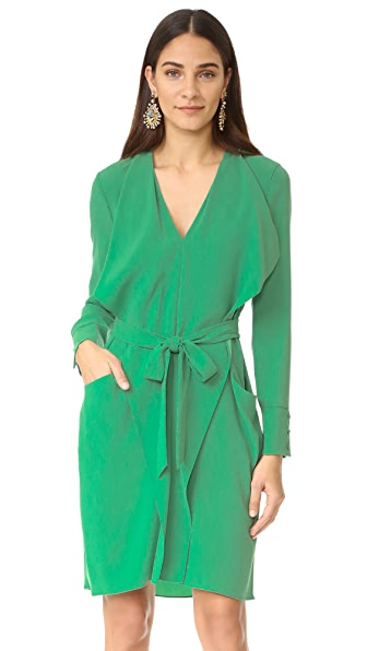 BCBGMAXAZRIA Mikhaela V Neck Dress