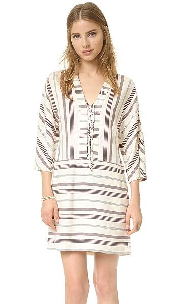 Bcbgmaxazria Milana Lace Up Dress - Cream Combo at Shopbop