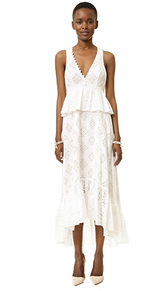 Bcbgmaxazria Tilda Dress - White Combo at Shopbop