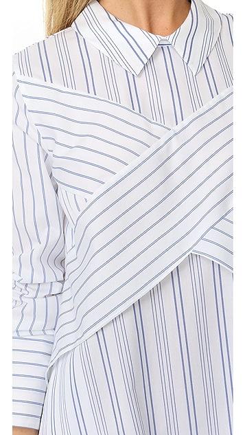 BCBGMAXAZRIA Crisscross Shirtdress