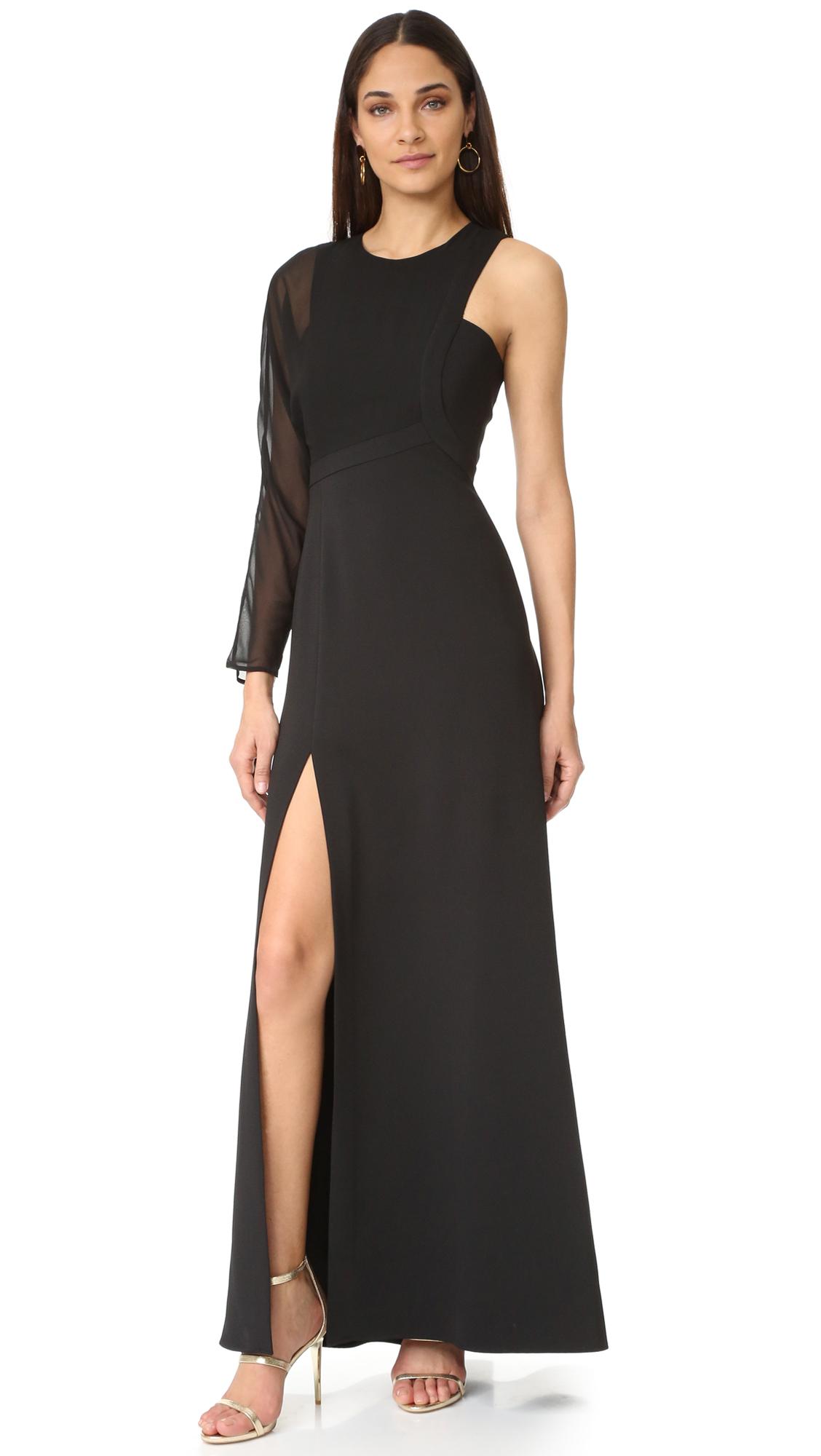Bcbgmaxazria One Shoulder Gown - Black at Shopbop