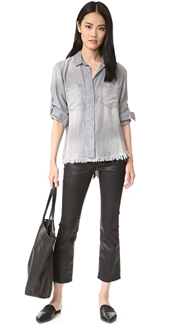 Bella Dahl Frayed Hem Split Back