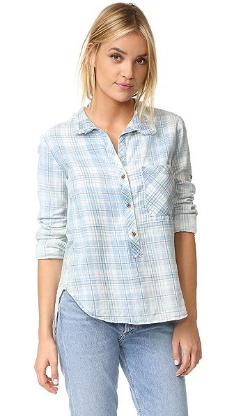 Bella Dahl Frayed Collar Shirt