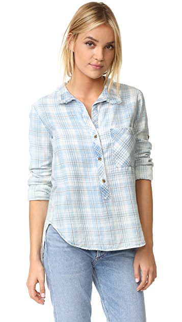 Bella Dahl Frayed Collar Shirt